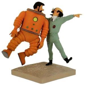Tintin (Kuifje) Haddock & Professor Zonnebloem  (Maan editie)