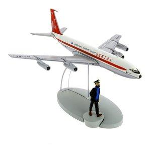 Tintin (Kuifje) De Boeing 707 Qantas Australia's Overseas