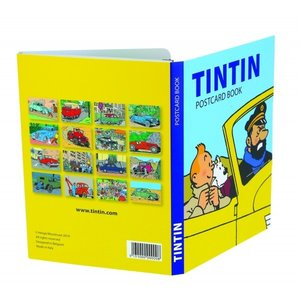 Tintin (Kuifje) Postcards - Tintin and the cars  (Set of 16)