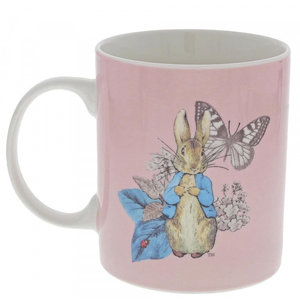 Beatrix Potter / Peter Rabbit Mug Peter Rabbit Garden Party (Pink)