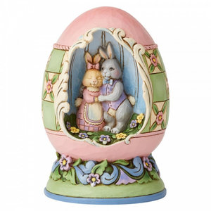 Jim Shore's Heartwood Creek Love Springs Eternal-Easter Egg w/Bunnies Diorama (1st Annual)