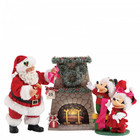 Disney Possible Dreams By D56 Mickey and Santa Hang the Perfect Wreath