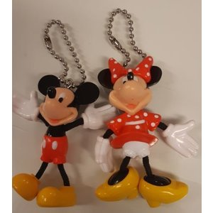 Disney Mickey & Minnie Stringy Keychain (Set)