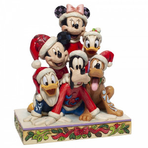 """Disney Traditions Mickey and friend """"Piled High with Holiday Cheer"""""""