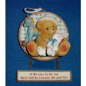 Cherished Teddies Boy With Toys Wall Plaque