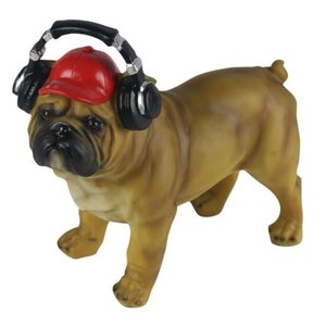 Studio Collection Bulldog With Headphones