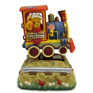 Cherished Teddies Boy in Train Car (Moving Musical)