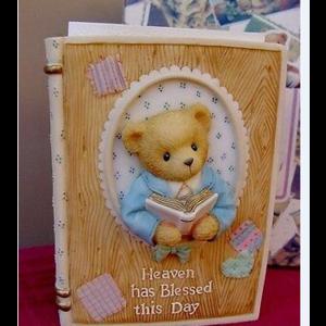 Cherished Teddies Boy Inspirational Bible Holder  (w. Bible)