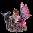 Studio Collection Catfairy Felinero w. little black fairycat