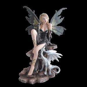 Studio Collection Sitting Fairy w. Dragon