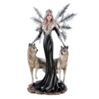"Studio Collection Dark Fairy ""Cristallupa""  with  2 Wolves"