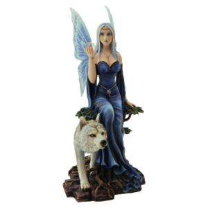 """Studio Collection Fairy """" Wolf Queen Lupa""""  with Wolf"""