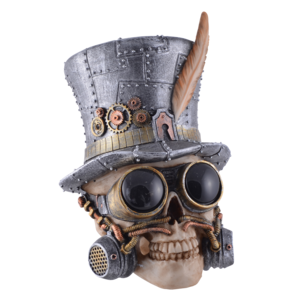 Studio Collection Steampunk Skull (w. cylinder and aviator)