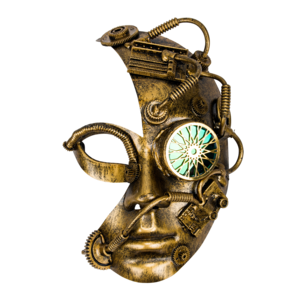 "Studio Collection Steampunk Half Mask ""Homunculus"""