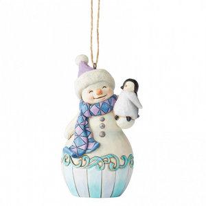 Jim Shore's Heartwood Creek Snowman with Baby Penguin (HO)