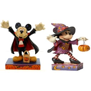 Disney Traditions Minnie Mouse As Witch & Count Mickey Vampire (SET)