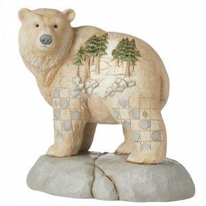 "Jim Shore's Heartwood Creek Polar Bear ""Wild and Free"""