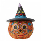 Jim Shore's Heartwood Creek Day of the Dead Jack-o-Lantern with Witch Hat (Mini Fig.)