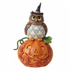 Jim Shore's Heartwood Creek Jack-o-Lantern and Owl (Mini Fig.)