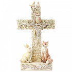 Jim Shore's Heartwood Creek White Woodland Cross Figurine