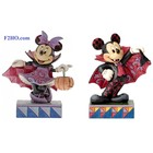 Disney Traditions Mickey Colourful Count - Minnie Violet Vampire SET