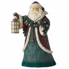 "Jim Shore's Heartwood Creek Santa with Garland and Lantern ""Walk In The Light"""