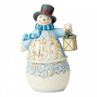 "Jim Shore's Heartwood Creek Snowman with Village Scene ""Calm and Bright"""
