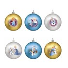 Disney Kurt S. Adler Frozen Glass Ornament (80 mm) Set/6