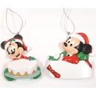 Disney Kurt S. Adler Mickey & Minnie Relief (HO)  Set/2