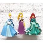 Disney Kurt S. Adler Princess Hanging Ornament (HO)  Set/3