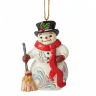 Jim Shore's Heartwood Creek Snowman with Long Scarf and Broom (HO)