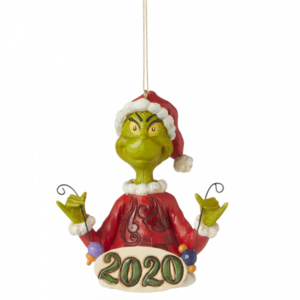 The Grinch by Jim Shore Grinch Holding String of Ornaments (Hanging Ornament)
