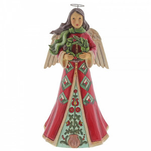 """Jim Shore's Heartwood Creek Angel with Wreath """"Blessings Of Home and Hearth"""""""