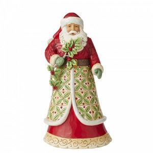 Jim Shore's Heartwood Creek Holly Jolly Holiday (Santa with Holly)