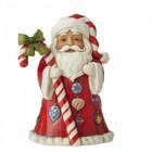 Jim Shore's Heartwood Creek Santa with Big Candy Cane (Mini)