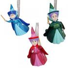 Disney Magical Moments Three Good Fairies 3D Hanging Ornament (HO) SET/3