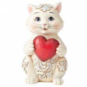 Jim Shore's Heartwood Creek Cat Holding Heart