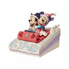 Disney Traditions Mickey & Minnie Sledding