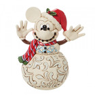 """Disney Traditions Mickey Mouse Snowman """"Snowy Smiles"""""""