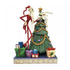 Disney Traditions Santa Jack with Zero by Tree