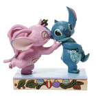 Disney Traditions Stitch and Angel with Mistletoe