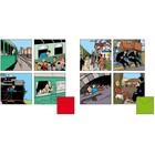 Tintin (Kuifje) Set of 8 postcards Tintin Train