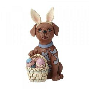 Jim Shore's Heartwood Creek Mini Dog with Bunny Ears