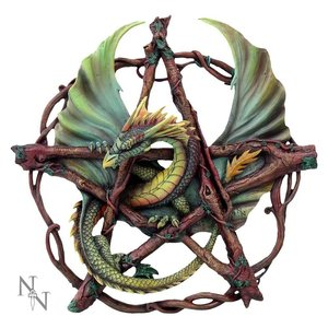 Anne Stokes Forest Pentagram Dragon