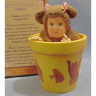 Anne Geddes Teddybear Baby in Flower Pot