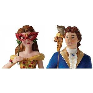 Disney Showcase Belle & Beast Masquerade SET of 2