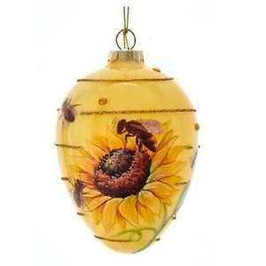 Kurt S. Adler (Other)  Bee - Sunflower (Oval Glass Ornament)