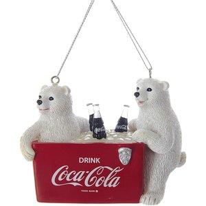 Coca Cola © 2 Polar Cubs with Coke Cooler (Hanging Ornament)