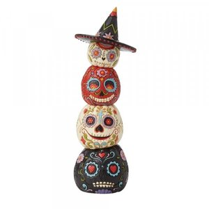Jim Shore's Heartwood Creek Stacked Day of the Dead Pumpkins