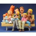 Jan Jans & Kinderen Familie op de bank
